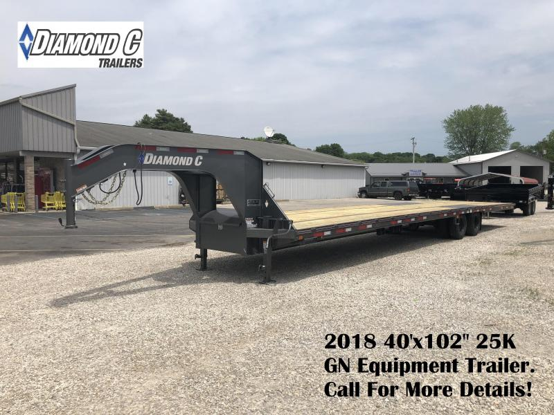 "2018 40'x102"" 25K Diamond C GN Equipment Trailer. 00840"