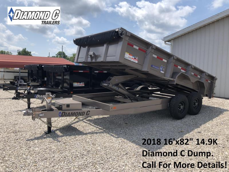 "2018 16'x82"" 14.9K Diamond C Dump Trailer. 3957"