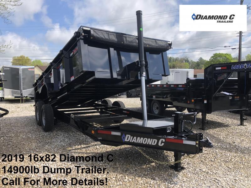 2019 16x82 14.9K Diamond C Dump Trailer. 13714