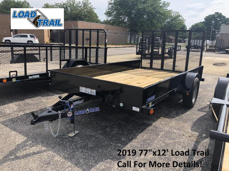 "2019 77""x12' Load Trail Utility Trailer. 73008"