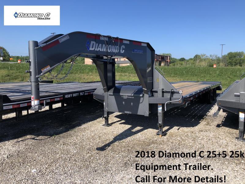 2018 Diamond C 25+5 25k Equipment Trailer. 02644