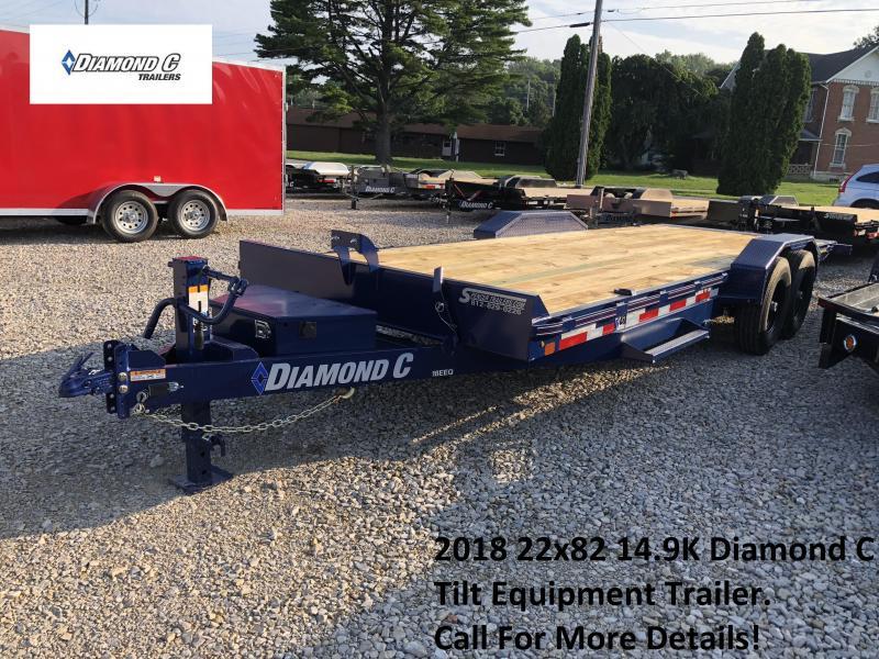 2018 22x82 14.9K Diamond C Tilt Equipment Trailer. 2130