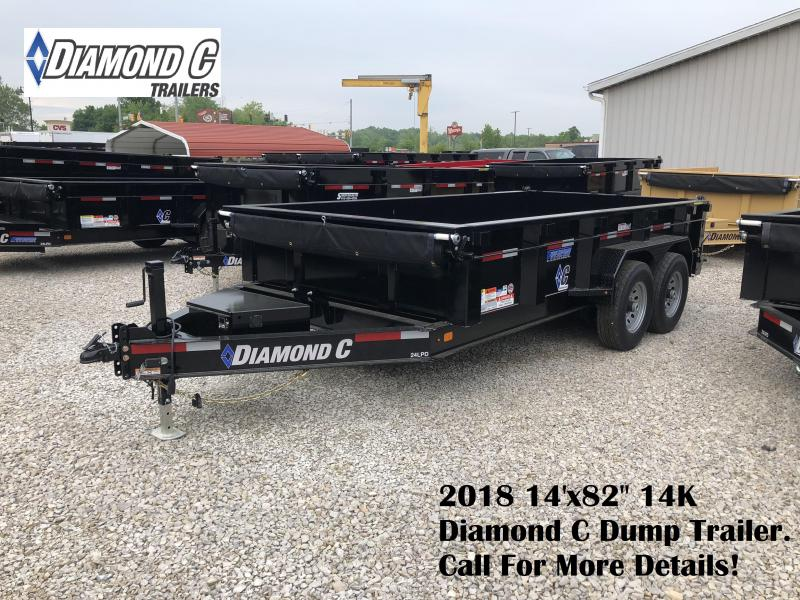 "2018 14'x82"" 14K Diamond C Dump Trailer. 00379"