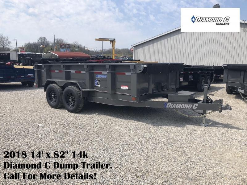 "2018 14' x 82"" 14k Diamond C Dump Trailer. 00483"
