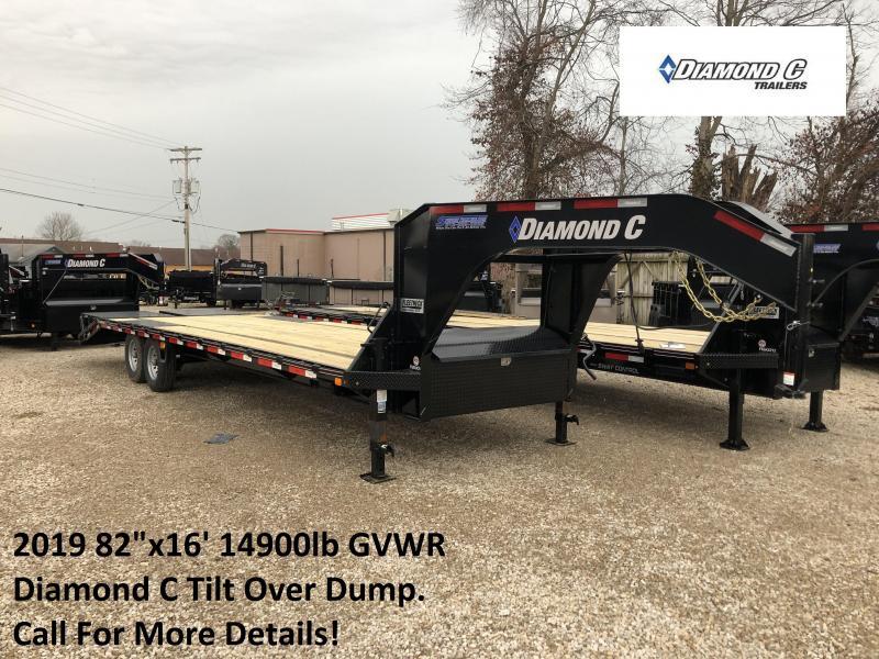 2019 28x102 15.5K Diamond C GN Equipment Trailer. 09323