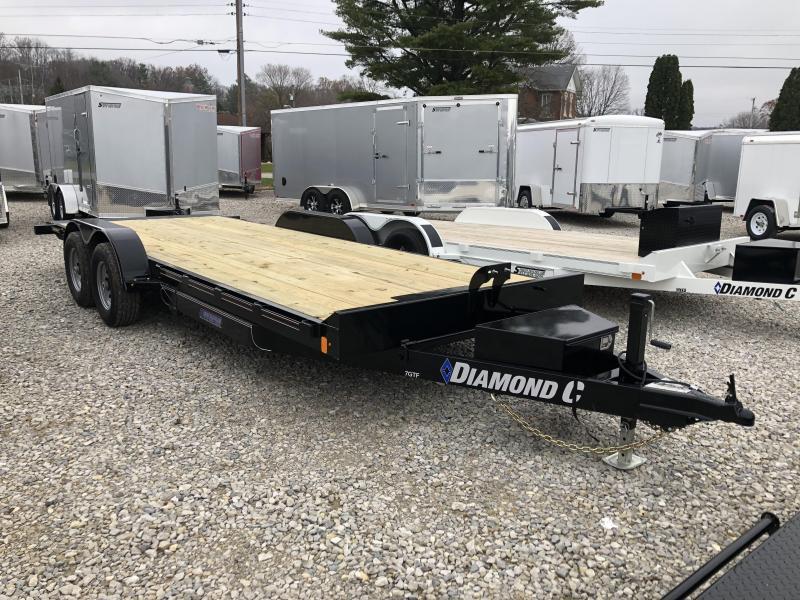 2019 20x83 10K Diamond C Car Trailer. 7539