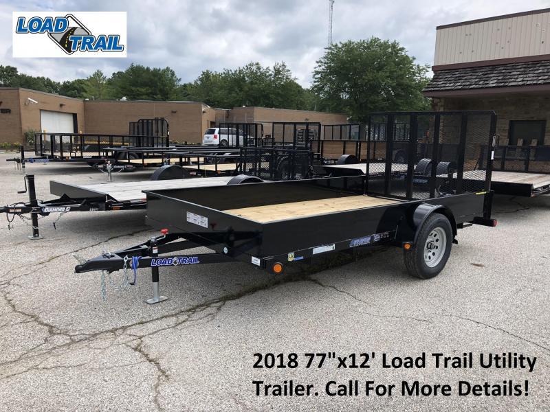 "2018 77""x12' Load Trail Utility Trailer. 69945"