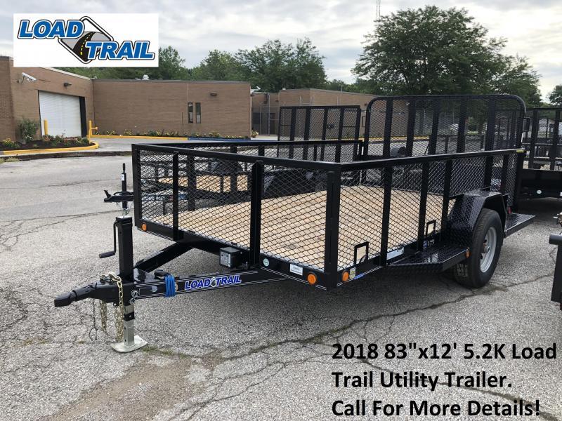 "2018 83""x12' 5.2K Load Trail Utility Trailer. 69355"
