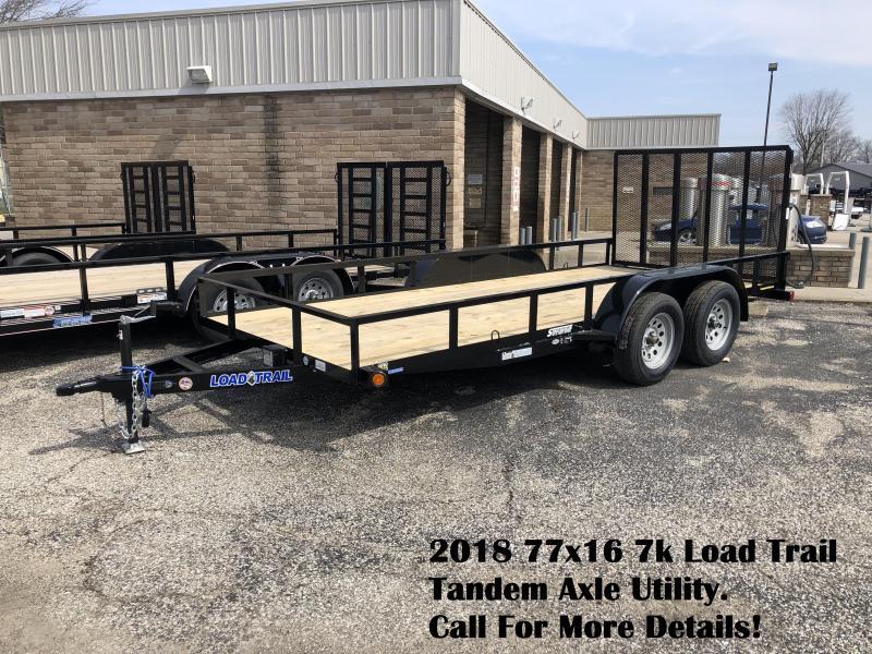 2018 77x16 7k Load Trail Tandem Axle Utility. 59772