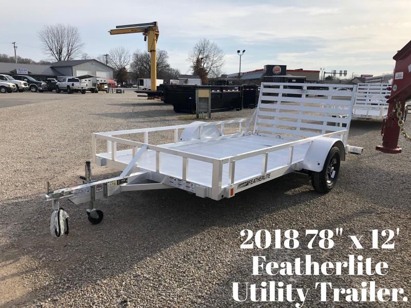 "2018 78"" x 12' Featherlite Utility Trailer. 147881"