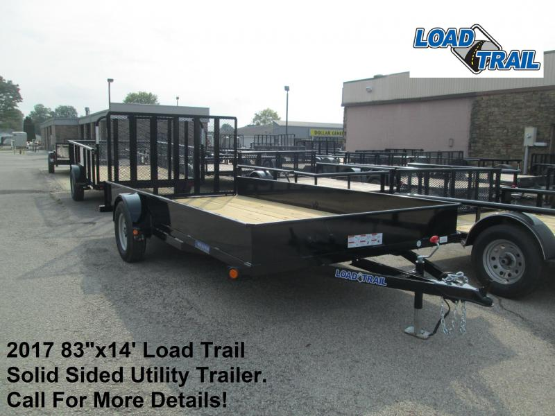 "2017 83""x14' Load Trail Solid Sided Utility Trailer. 46564"