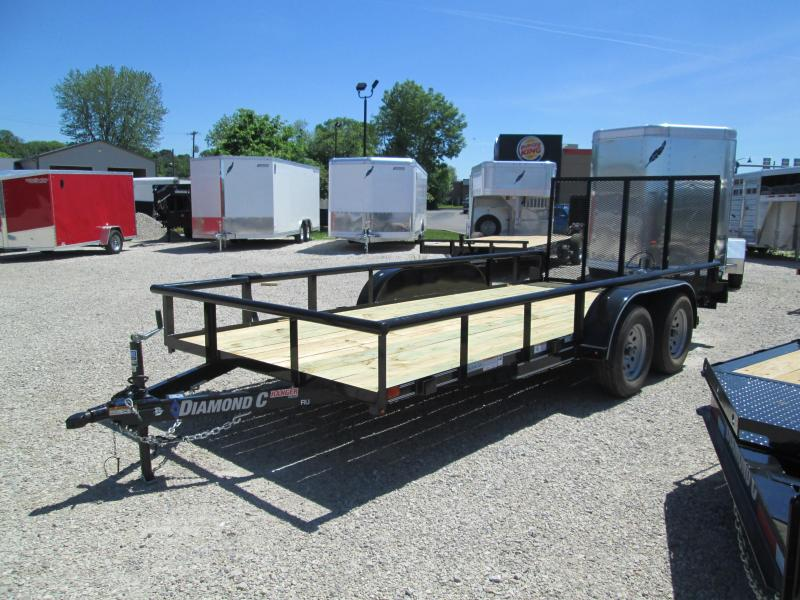 "2018 16'x77"" 7k Diamond C Utility Trailer. 01936"