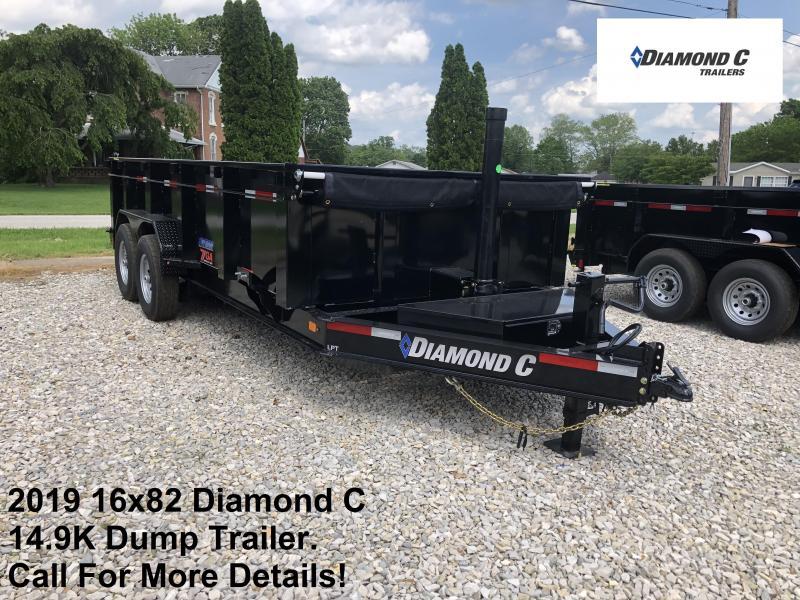 2019 16x82 14.9K Diamond C Dump Trailer. 13716