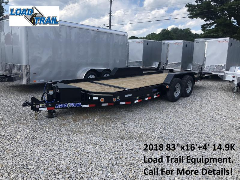 "2018 83""x16'+4' 14.9K Load Trail Equipment Trailer. 69684"