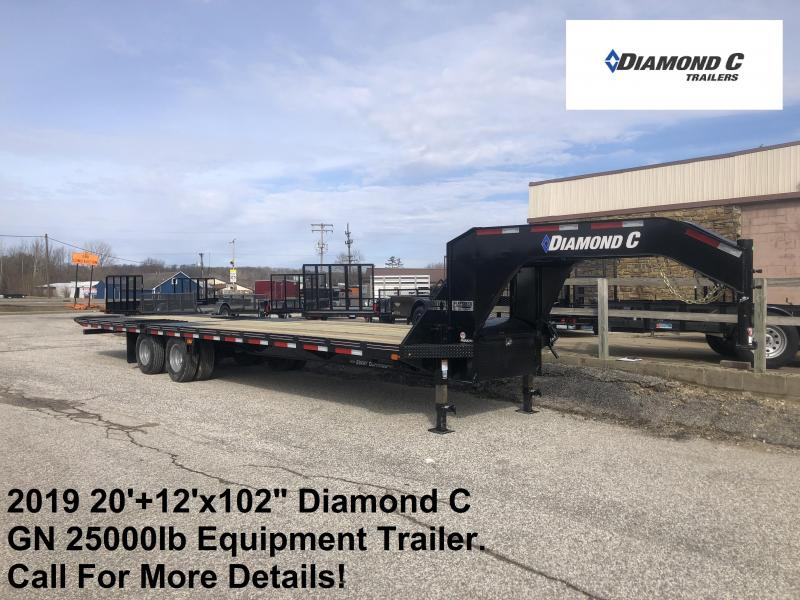 "2019 20'+12'x102"" 25K Diamond C Engineer Beam GN Equipment Trailer. 10477"