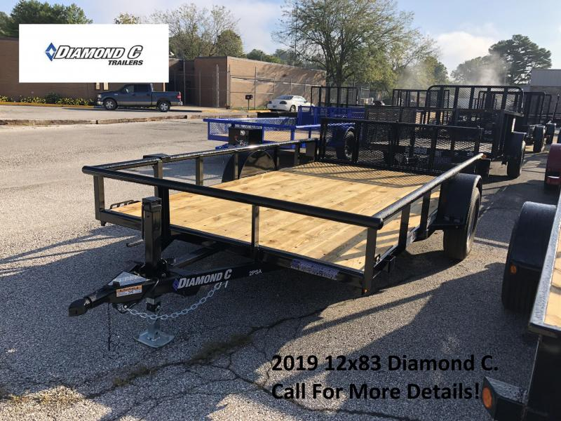 2019 12x83 Diamond C Utility Trailer. 5934
