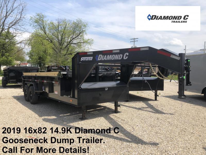 2019 16x82 14.9K Diamond C Dump Trailer. 13877