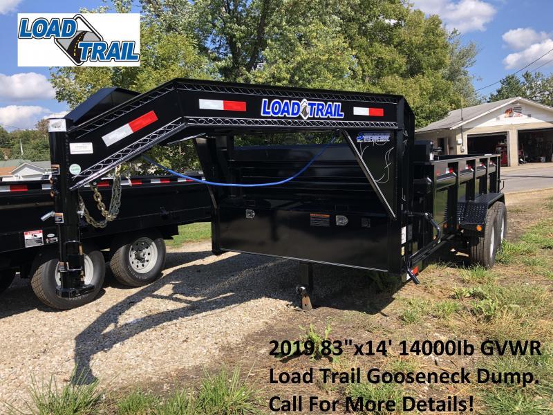 "2019 83""x14' 14k Load Trail Gooseneck Dump. 73703"
