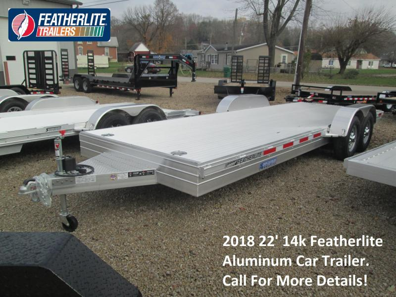 2018 22' 14k Featherlite Aluminum Car Trailer. 147444