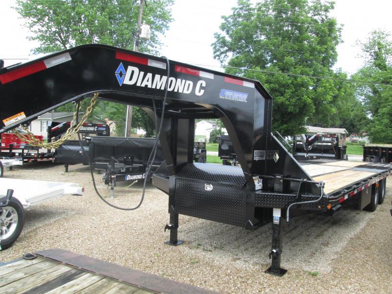 2019 18+12x102 25.9K Diamond C FMAX 212 Engineered Beam GN Equipment Trailer. 15808