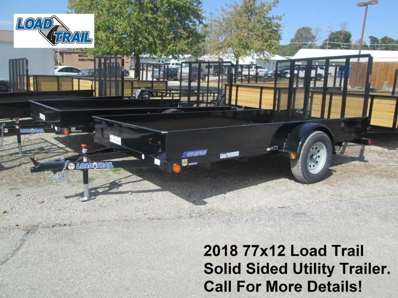 2018 77x12 Load Trail Solid Sided Utility Trailer. 48295