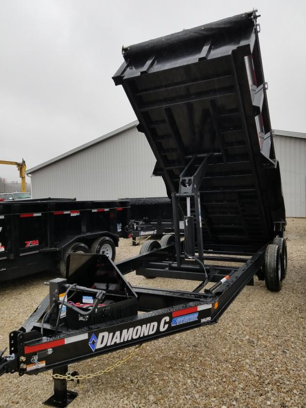 2018 Diamond C 16' 14900lb GVWR Dump Trailer. 98097