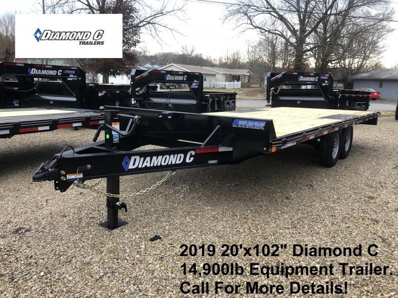 "2019 20'x102"" 14.9K Diamond C Equipment Trailer. 10175"