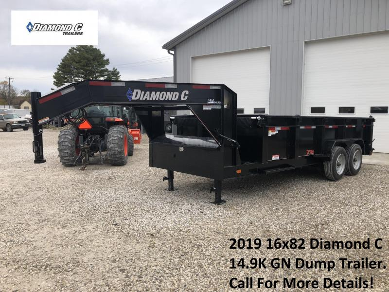 2019 16x82 14.9K Diamond C GN Dump Trailer. 6513