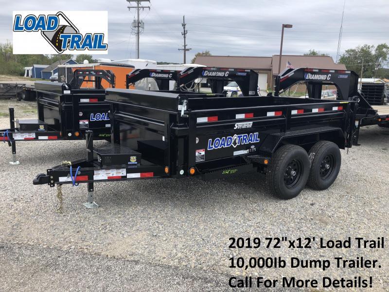 "2019 72""x12' 10K Load Trail Dump Trailer. 76738"