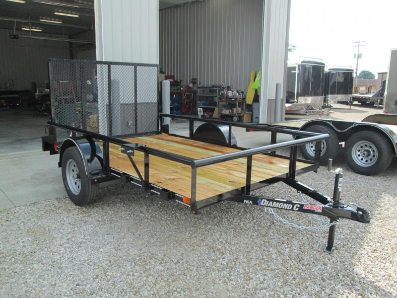 "2018 10'x77"" Diamond C Utility Trailer. 2609"