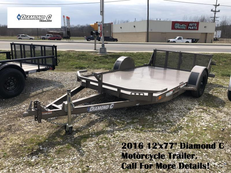 "2016 12'x77"" Diamond C Motorcycle Trailer. 79719"