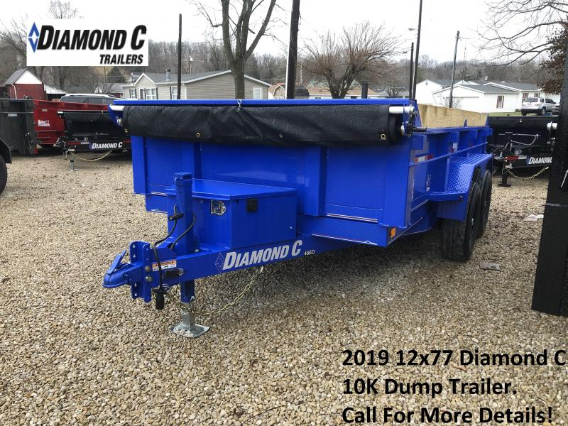 2019 12x77 10K Diamond C Dump Trailer. 7688
