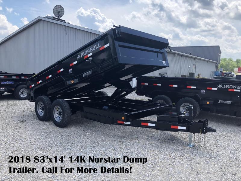 "2018 83""x14' 14K Norstar Dump Trailer. 22171"