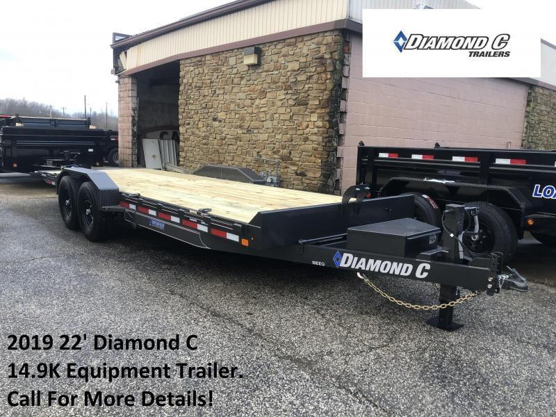 2019 22' 14.9K Diamond C Equipment Trailer. 10261