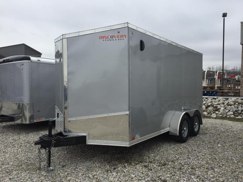 2019 7x14 Discovery Enclosed Trailer with extra height. 02226