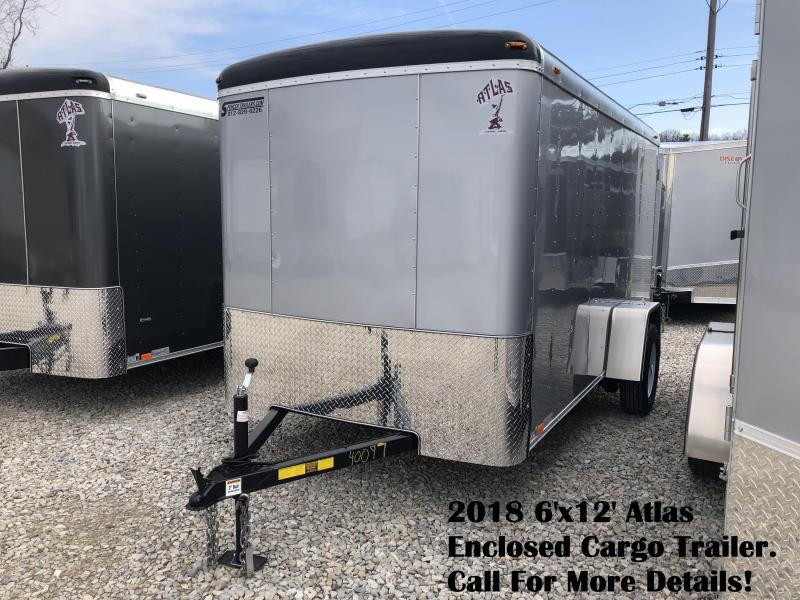 2018 6'x12' Atlas Enclosed Cargo Trailer. 40097