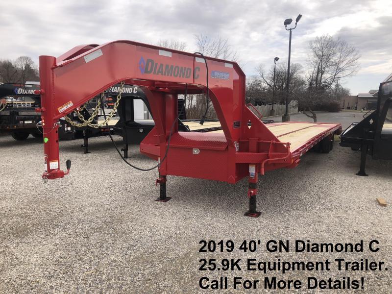 2019 40' 25.9K Diamond C Equipment Trailer. 9703