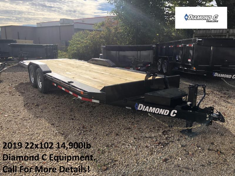 2019 22x102 14.9K Diamond C Equipment Trailer. 6811