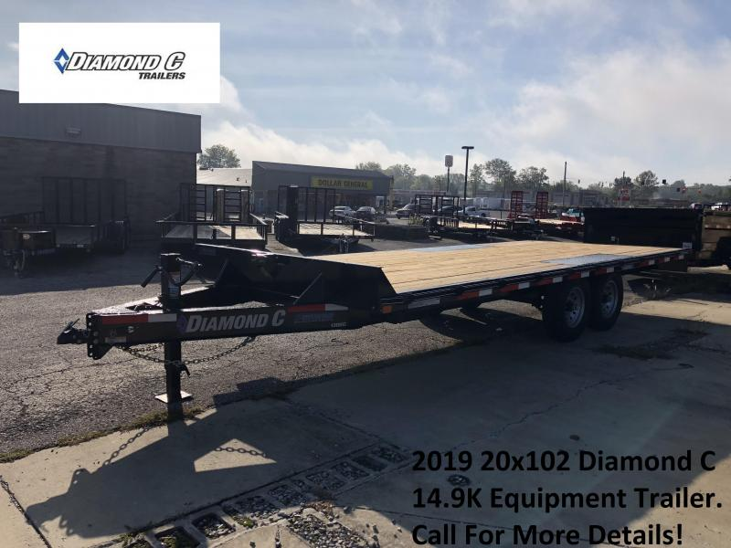2019 20x102 14.9K Diamond C Equipment Trailer. 4710