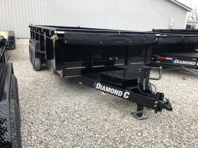 2019 16x82 14.9K Diamond C Dump Trailer. 8777
