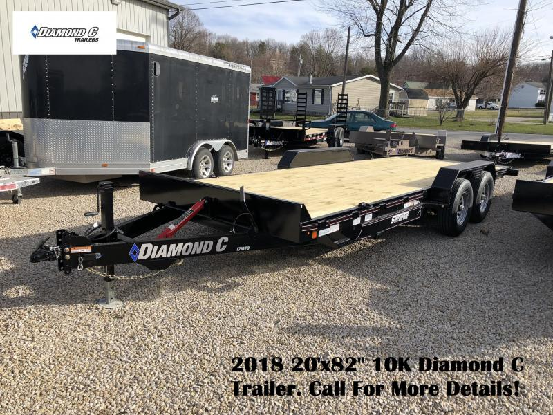 "2018 20'x82"" 10K Diamond C Trailer. 98146"