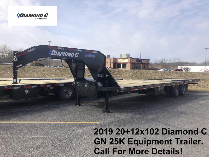 2019 20+12x102 25K Diamond C GN Equipment Trailer. 10478