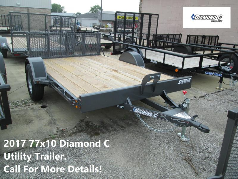2017 77x10 Diamond C Utility Trailer. 89177