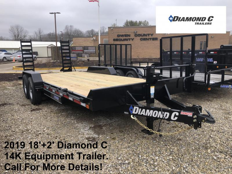 2019 18'+2' 14K Diamond C Equipment Trailer. 10306