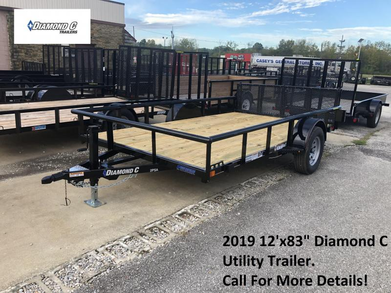 "2019 12'x83"" Diamond C Utility Trailer. 5930"