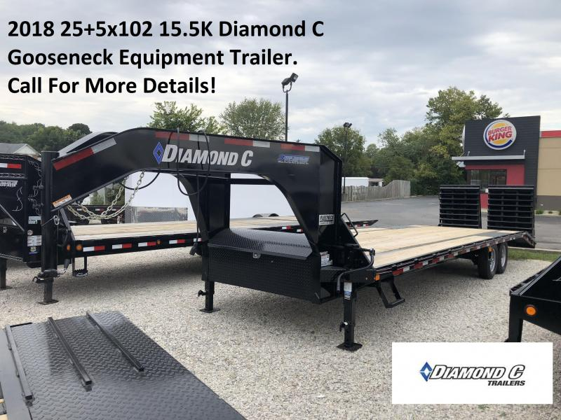 2018 25+5x102 15.5K Diamond C GN Equipment Trailer. 3609