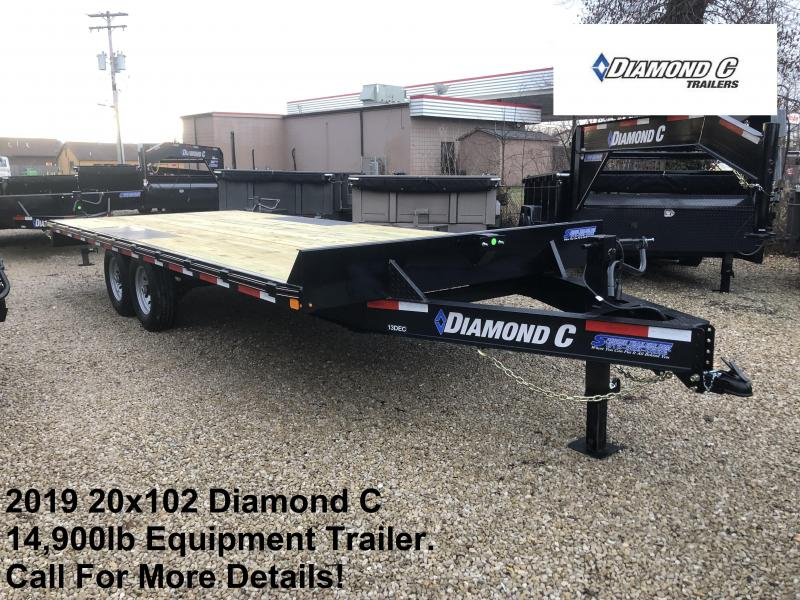 2019 20x102 14.9K Diamond C Equipment Trailer. 10111