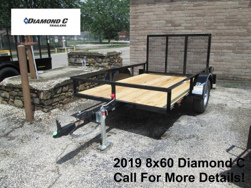 2019 8x60 Diamond C Utility Trailer. 15860