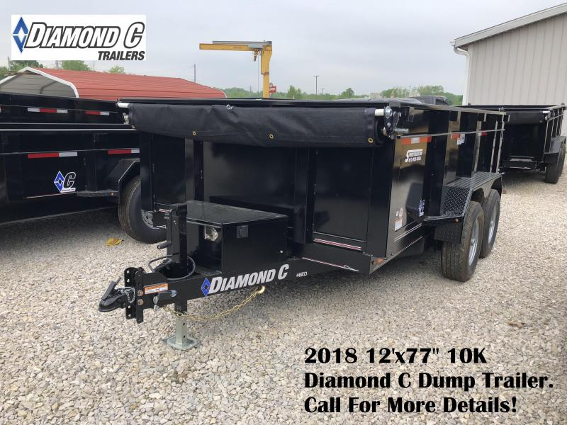 "2018 12'x77"" 10K Diamond C Dump Trailer. 00900"