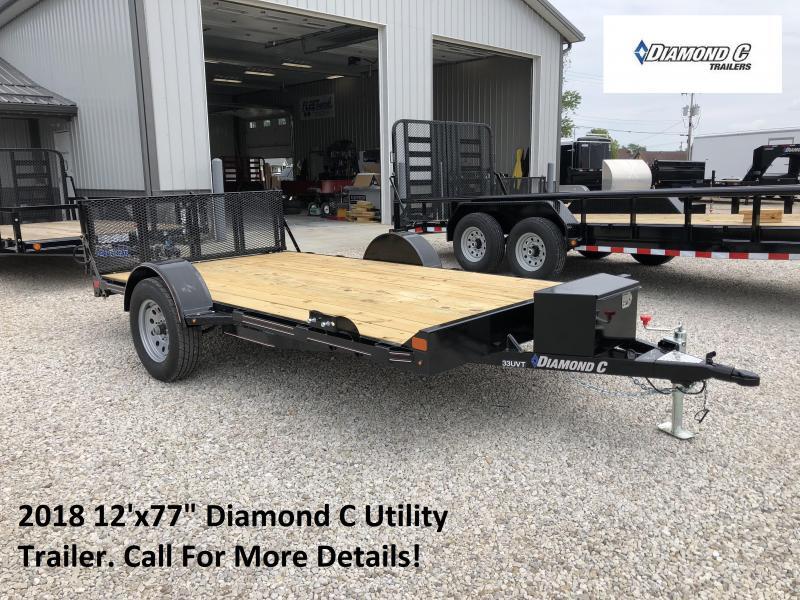 "2018 12'x77"" Diamond C Utility Trailer. 3573"